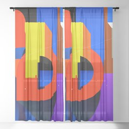 Levíntiox city Sheer Curtain