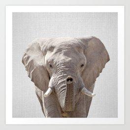 Elephant - Colorful Art Print