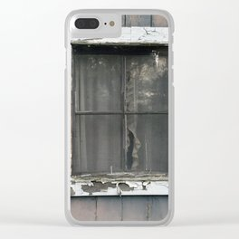 Vintage Window Clear iPhone Case