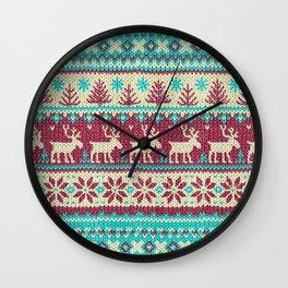 Ugly Christmas Sweater Digital Knit Pattern 2 Wall Clock