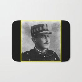 Aaron Gerschel- Portrait of Alfred Dreyfus Bath Mat