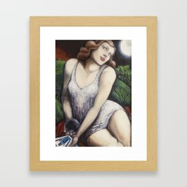 The High Priestess - Tarot Card Art Framed Art Print