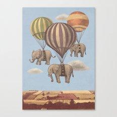 Flight of the Elephants - colour option Canvas Print