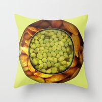 pasta Throw Pillows featuring Pasta + Beans by romano