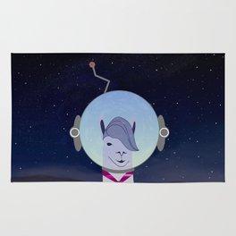 Unique Lama Astronaut Design Rug