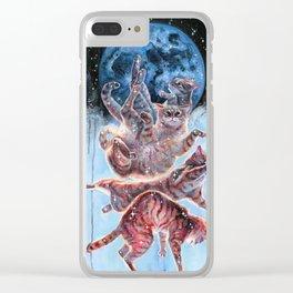 Felinoid Fall Clear iPhone Case