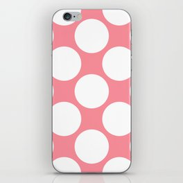 Polka Dots Pink iPhone Skin