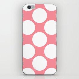 Polka Dots Pink iPhone Skin