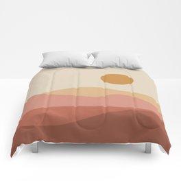 Geometric Landscape 23A Comforters