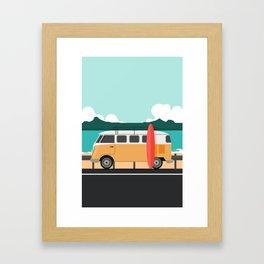 Road Trip on Van Framed Art Print