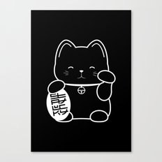 Stay Lucky BLK Canvas Print