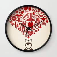 doctor Wall Clocks featuring Doctor by aleksander1