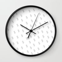 toilet Wall Clocks featuring Toilet Print by Amanda Roof