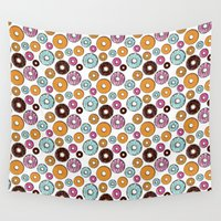 homer Wall Tapestries featuring Donuts by Gabriel Freire