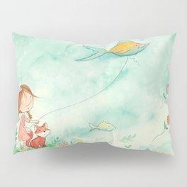 Amelia's Grumpy Fish Kite Pillow Sham