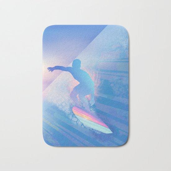sunset surfer 2 Bath Mat