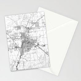 Vintage Map of Las Vegas Nevada (1952) BW Stationery Cards