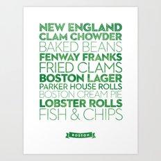 Boston — Delicious City Prints Art Print