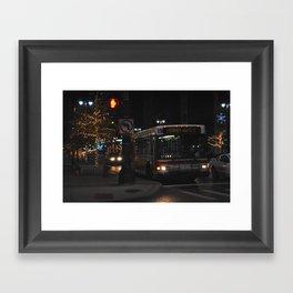 Detroit Bus Framed Art Print
