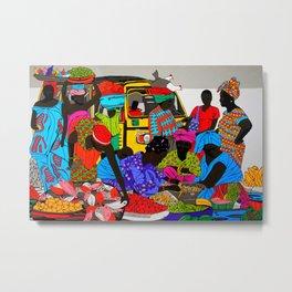 african market 1 Metal Print