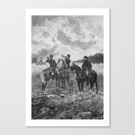 Civil War Soldiers On Horseback Canvas Print