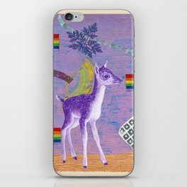 rainbow deer 1 iPhone Skin