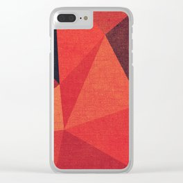 Abstract geometric patter.Triangle background Clear iPhone Case