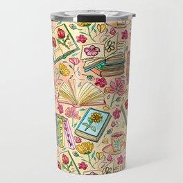 Blooms and Books Travel Mug