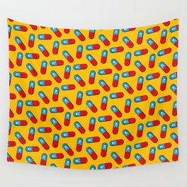 Deadly but Colorful. Pills Pattern Wall Tapestry