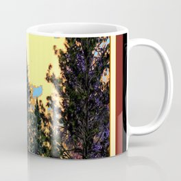 SUNNY DAY PINE TREES FOREST BROWN ART Coffee Mug