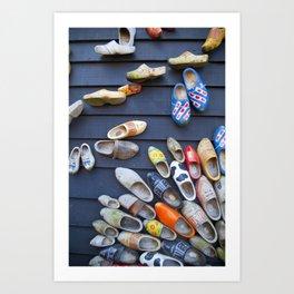 Wodden shoes Art Print
