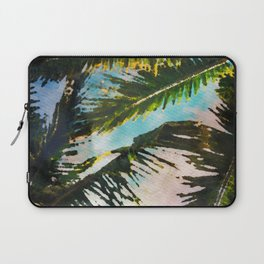 Palm Trees Exotic Watercolor Laptop Sleeve