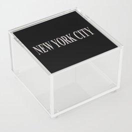New York City (type in type on black) Acrylic Box