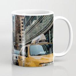 Taxis on New York City Street Coffee Mug