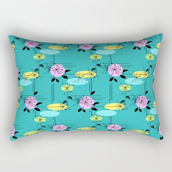 Retro . Turquoise . Rectangular Pillow