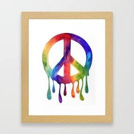 Dripping Peace Framed Art Print