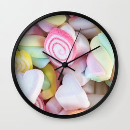 Pastel Rainbow Candy Wall Clock