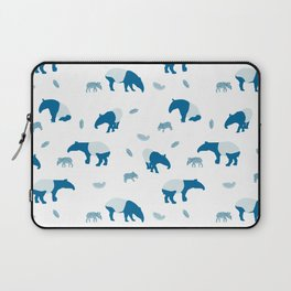 Malayan Tapir In Blue Laptop Sleeve