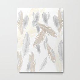 Feather Dream Pattern #3 #boho #decor #art #society6 Metal Print