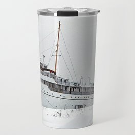 SS Keewatin in Winter White Travel Mug