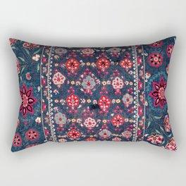 Lakai Suzani Shakhrisyabz Uzbek Embroidery Print Rectangular Pillow