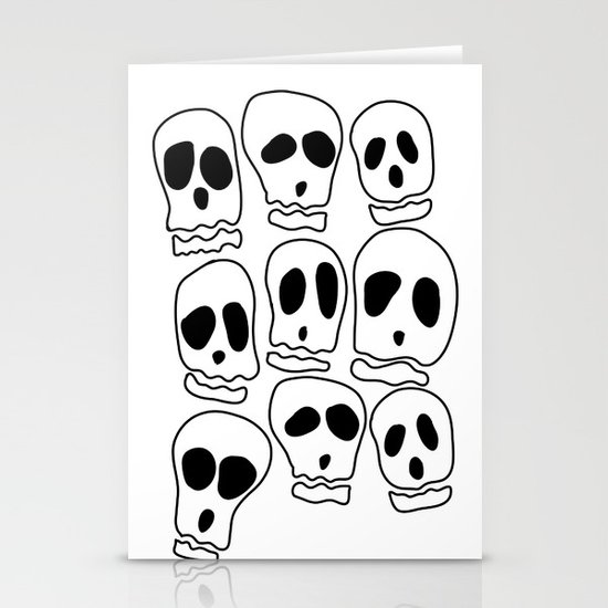Skulls-1 Stationery Cards
