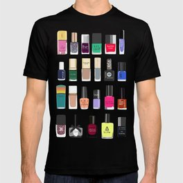 My nail polish collection art print T-shirt