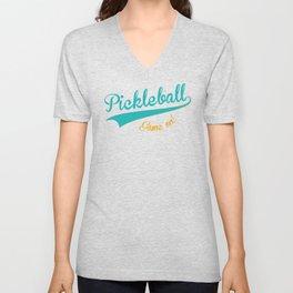 Pickleball Old School Game On Unisex V-Neck