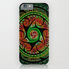 Variated Spheres #2 Celtic Knotwork Spiral Circles iPhone Case