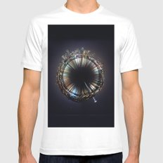 seattle White Mens Fitted Tee MEDIUM