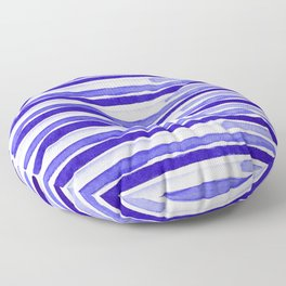Ultra Violet Watercolour Stripes Floor Pillow