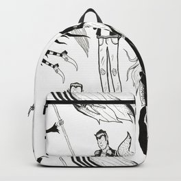 Happy Monsters (in white) Backpack