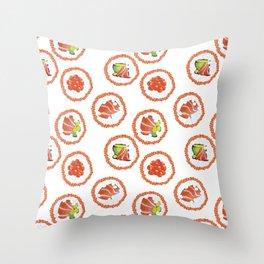 Tasty sushi Throw Pillow