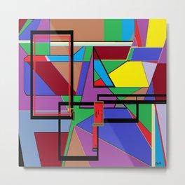 Geometry - Shape on Shape Metal Print
